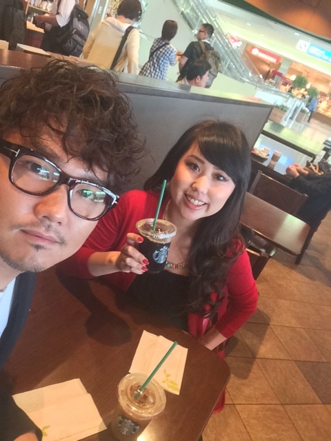 山野上さんとスタバで